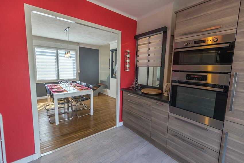 Gite Brest - Au bout du ponton - cuisine- salle à manger